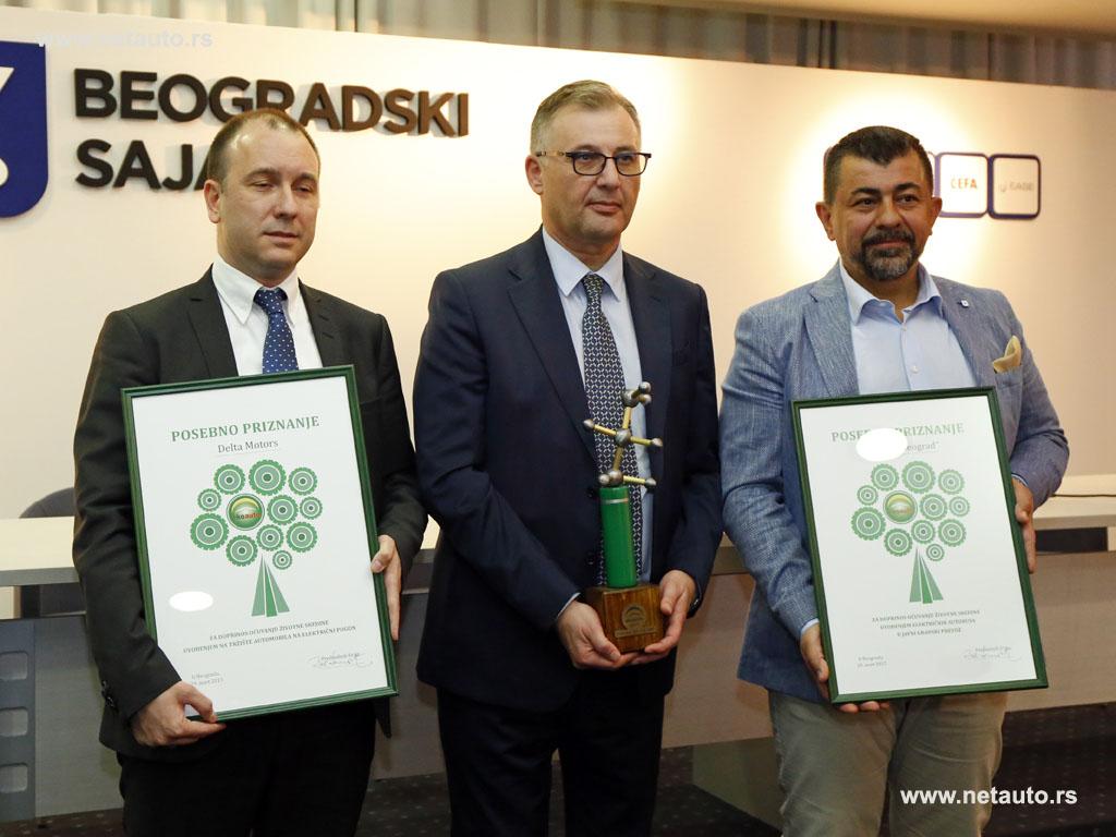 Milan Davidović (Delta Motors), Viktor Naškovski (Citroen) i Željko Milković (GSP Beograd)
