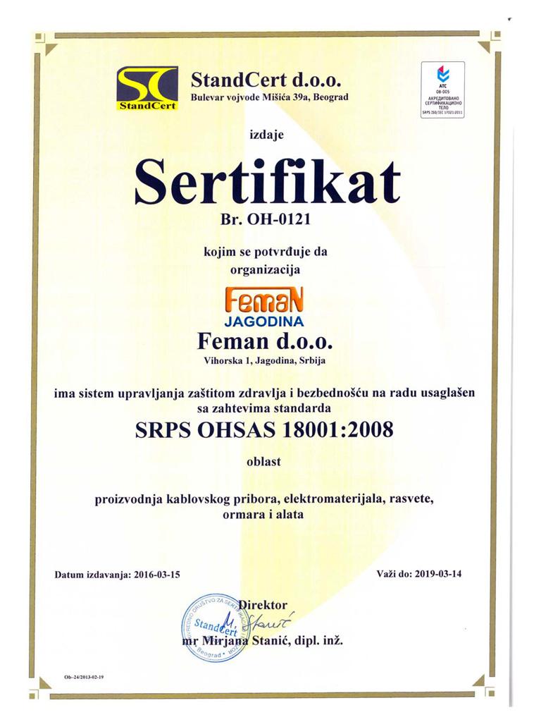 Feman-Sertifikat 18001