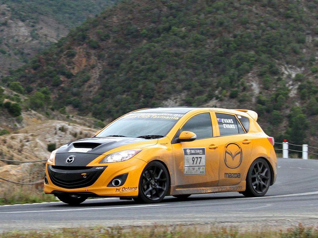 Targa Tasmania-Mazda3 MPS-2012.