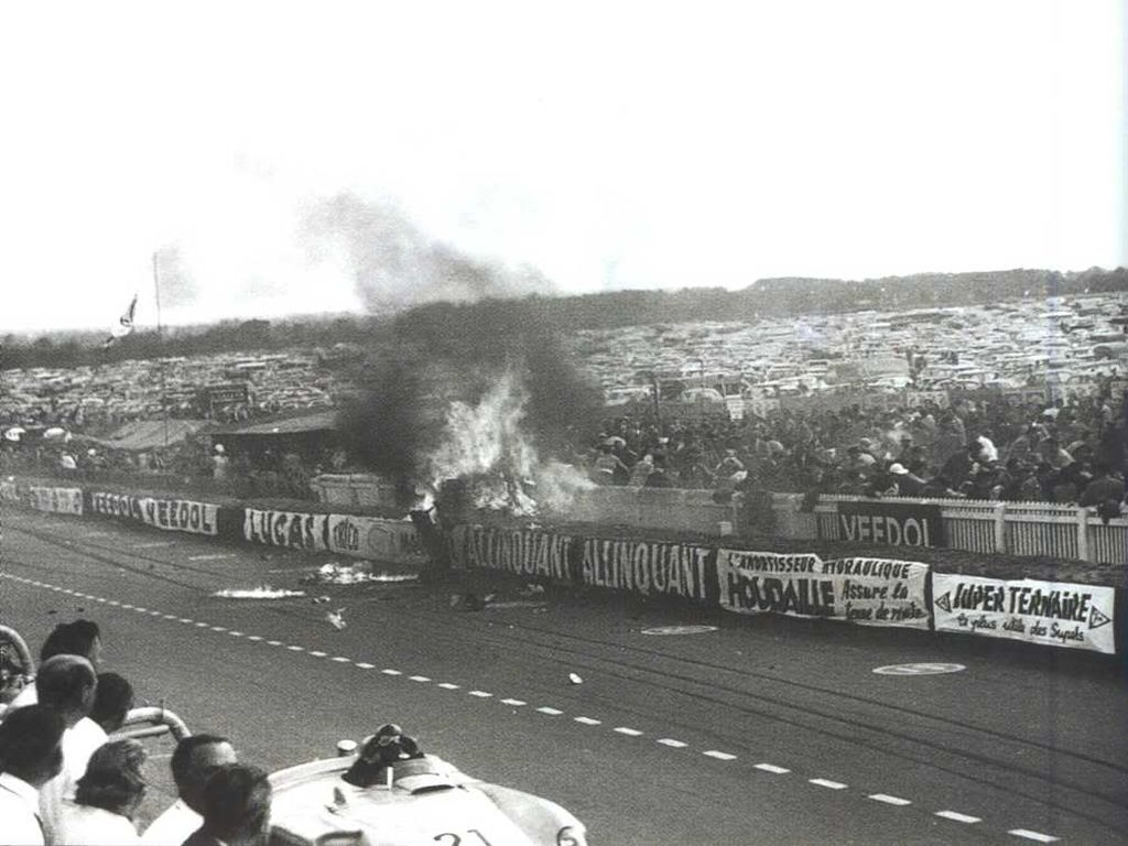 Pierre Levegh Fatal Crash Le-Mans 1955.