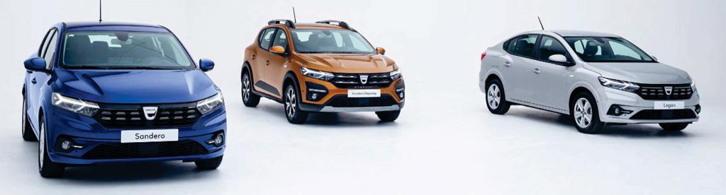Dacia Sandero, Sander Sterpway i Logan