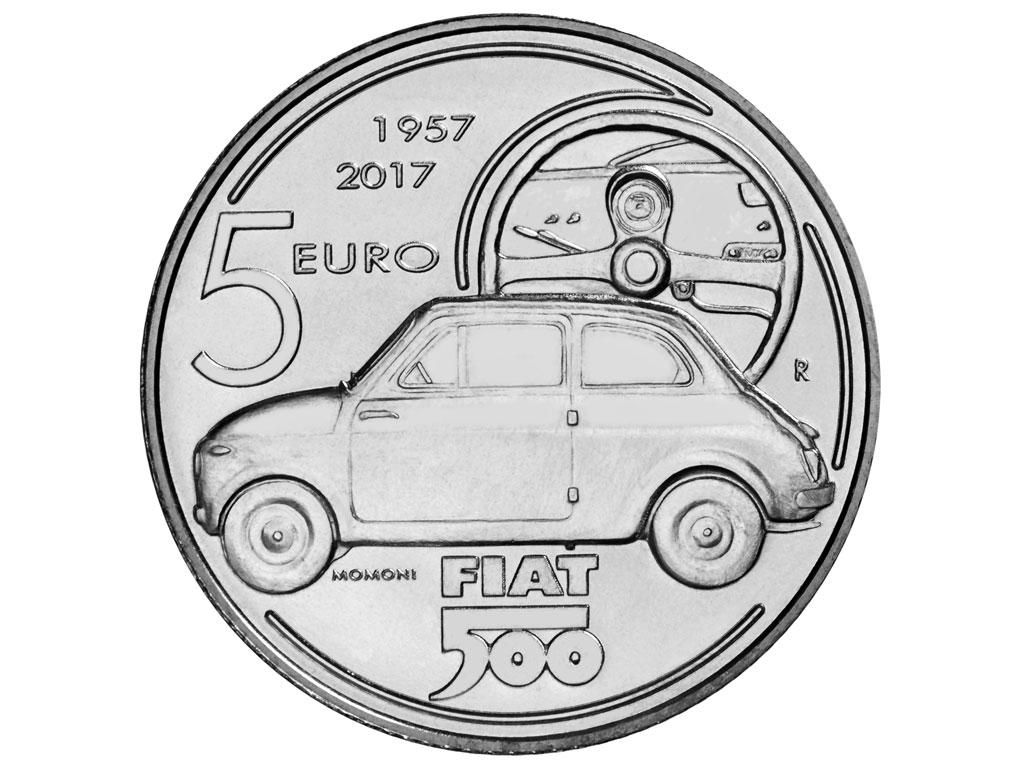 Fiat 500 kao novčić od pet evra